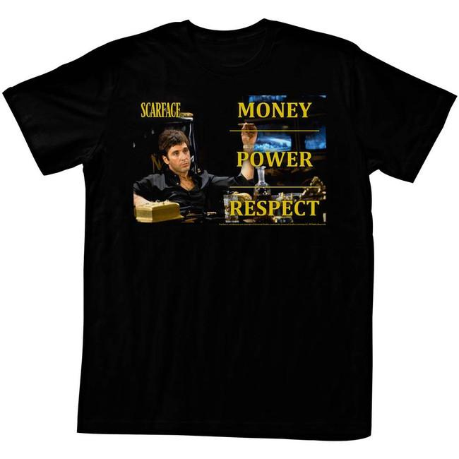Scarface Monpowres Black T-Shirt