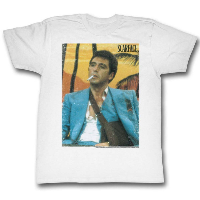 Scarface Cig White T-Shirt