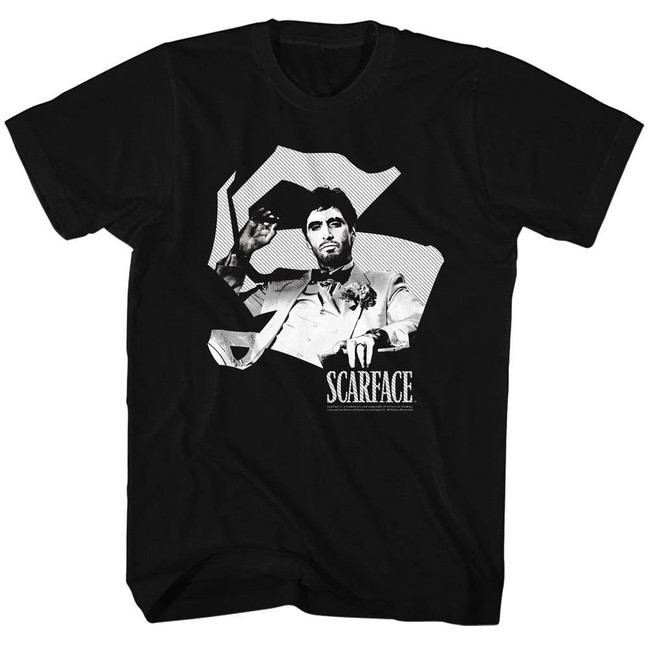 Scarface Scar S Black T-Shirt
