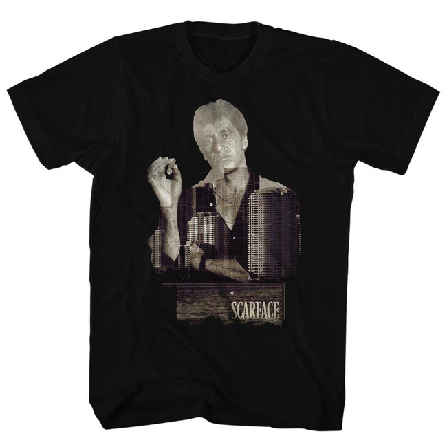 Scarface Double Expose Black T-Shirt