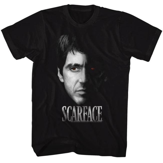 Scarface Red Eye Black T-Shirt