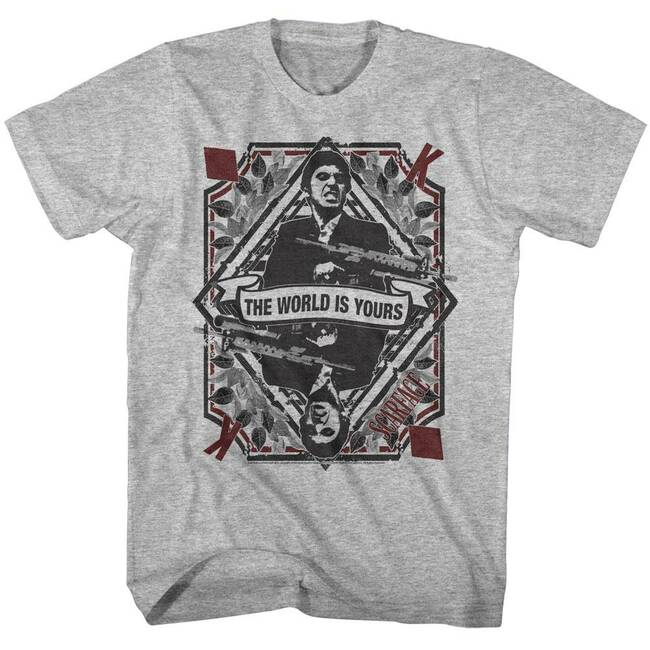 Scarface King of Diamonds Gray Heather T-Shirt