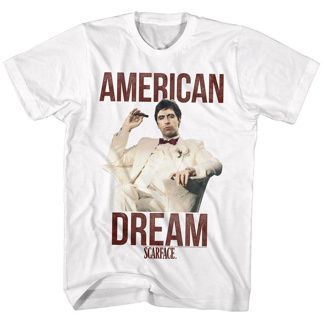 Scarface Americandream White T-Shirt