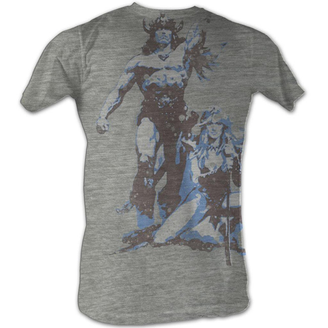 Conan The Barbarian Vintage Gray Heather Adult T-Shirt