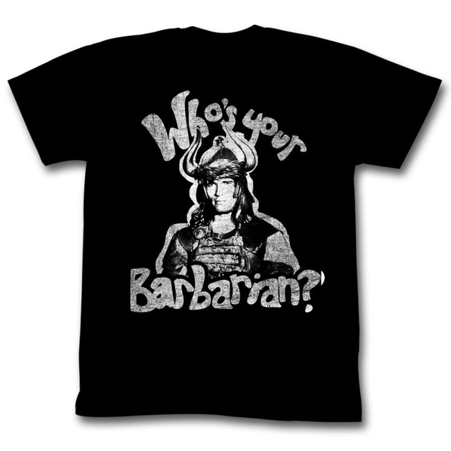 Conan The Barbarian Who's Your Barbarian Black Adult T-Shirt