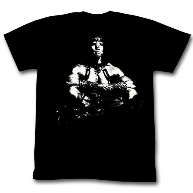 Conan The Barbarian Sitting Bull Black Adult T-Shirt