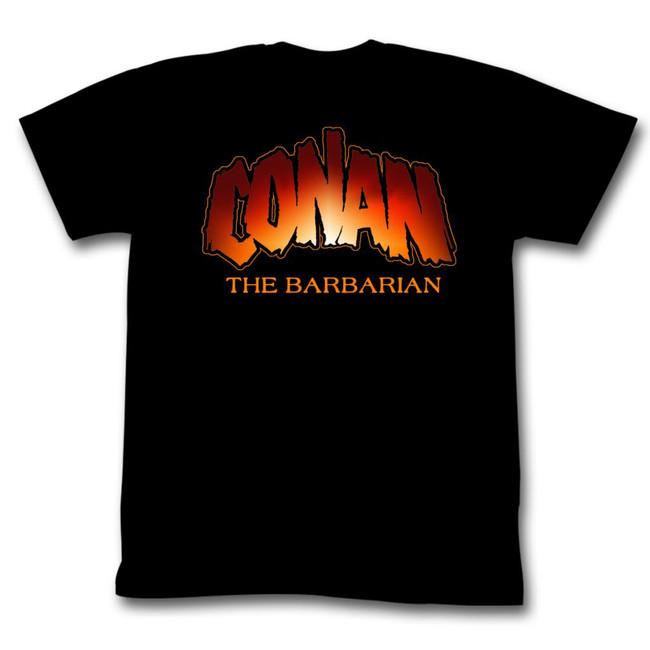 Conan The Barbarian New Logo Black Adult T-Shirt