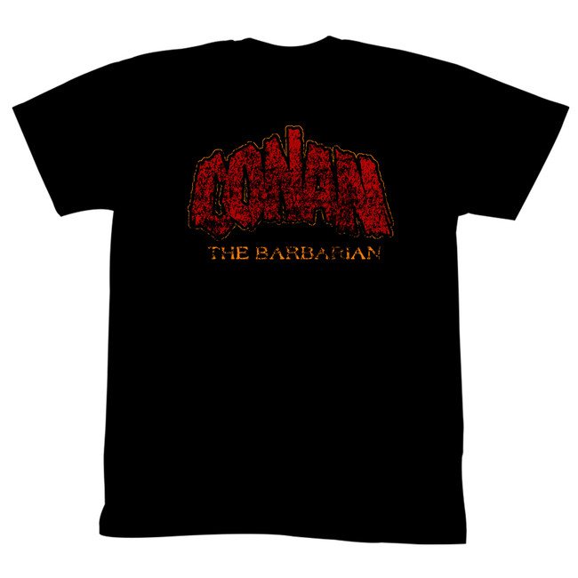 Conan The Barbarian Distressed Logo Black Adult T-Shirt