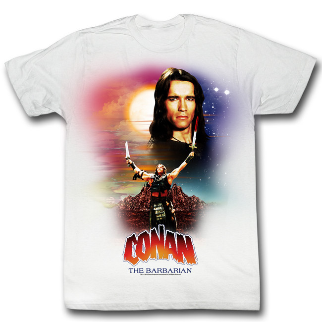 Conan The Barbarian Enough Said White Adult T-Shirt