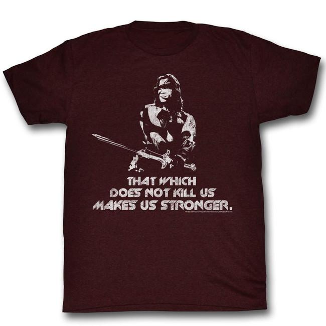 Conan The Barbarian Stronger Maroon Heather Adult T-Shirt