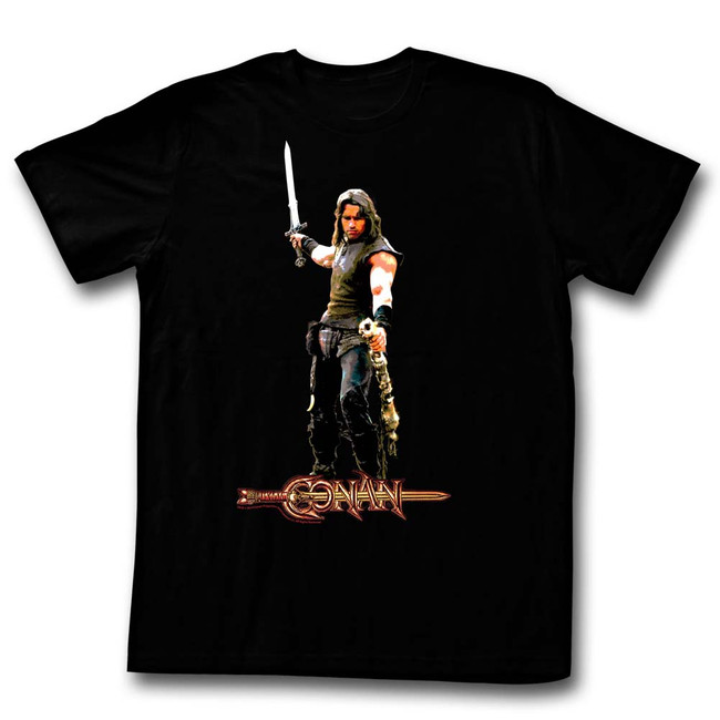 Conan The Barbarian It's A Weasel Black Adult T-Shirt