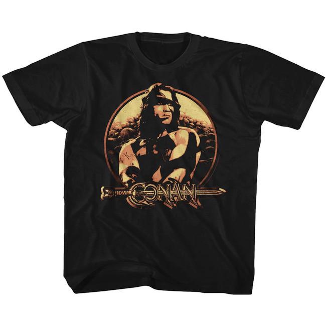 Conan The Barbarian Shield Black Toddler T-Shirt
