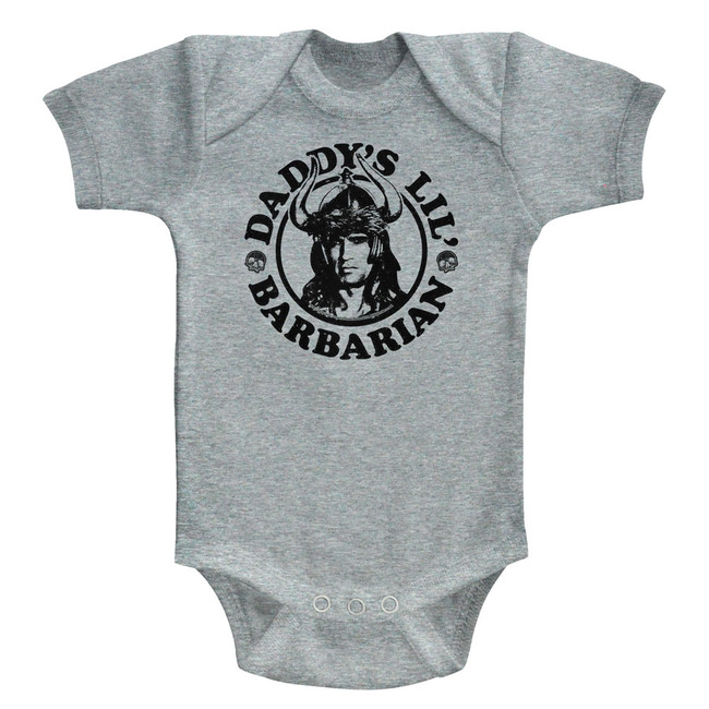 Conan The Barbarian Daddy's Barbarian Gray Heather Baby Onesie T-Shirt