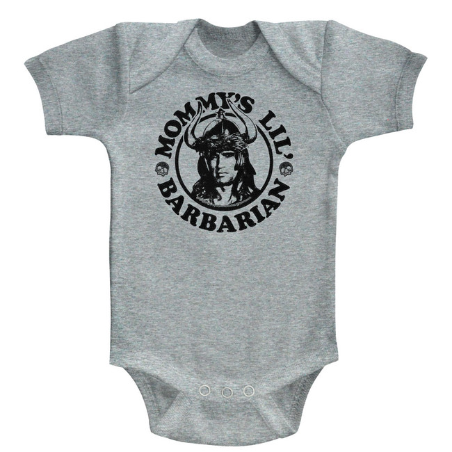 Conan The Barbarian Mommy's Barbarian Gray Heather Baby Onesie T-Shirt