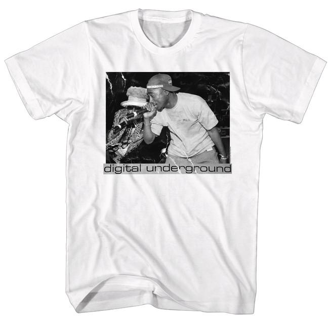 Digital Underground Tupac White Adult T-Shirt