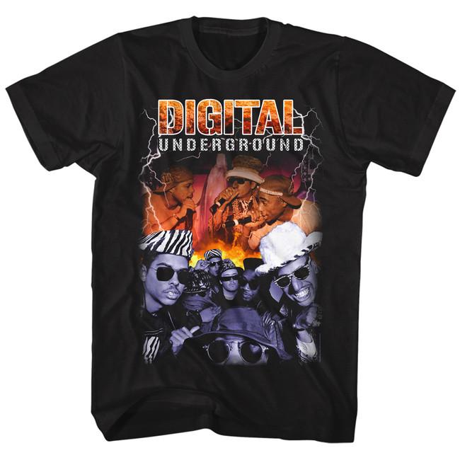 Digital Underground Bootleg Black Adult T-Shirt