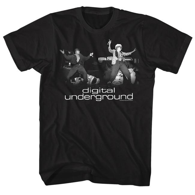 Digital Underground Stage Black Adult T-Shirt