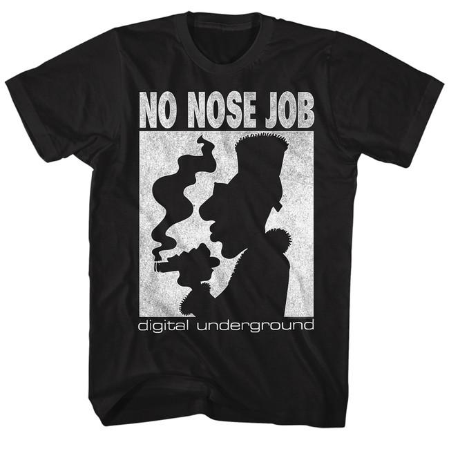 Digital Underground No Nose Job Black Adult T-Shirt