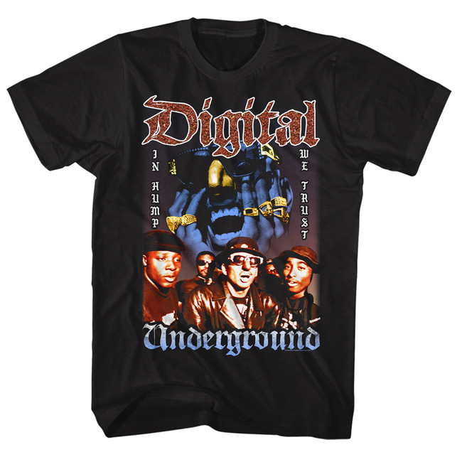 Digital Underground In Hump We Trust Black Adult T-Shirt