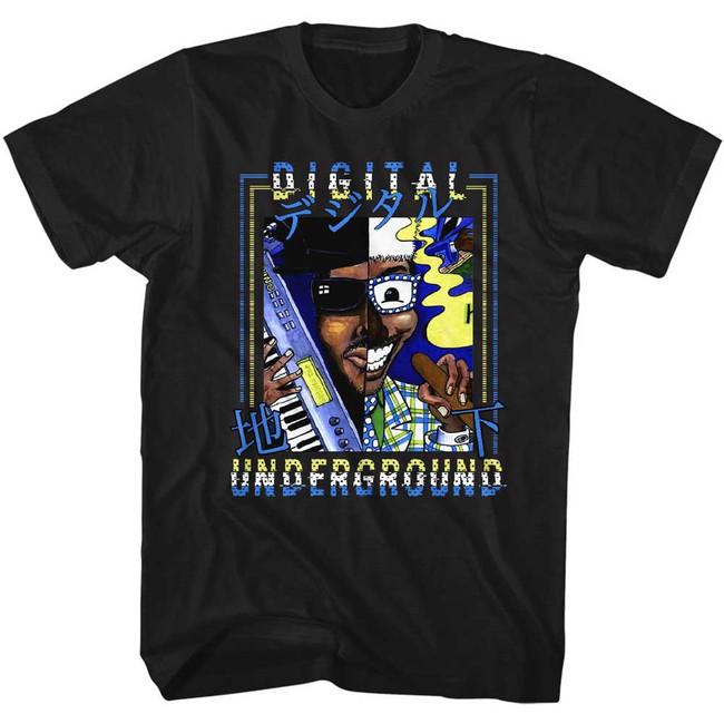 Digital Underground Japan Black Adult T-Shirt