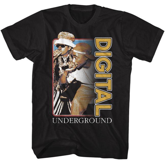 Digital Underground Black Adult T-Shirt