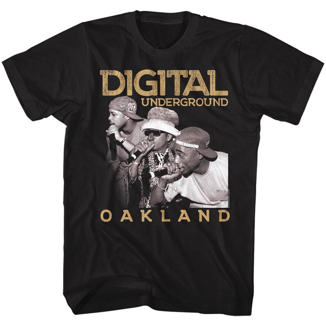 Digital Underground Oakland Black Adult T-Shirt