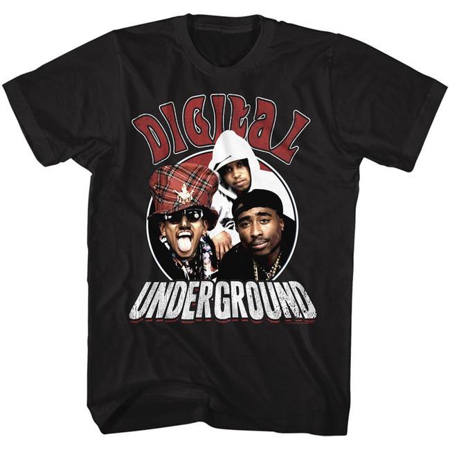 Digital Underground Circle Black Adult T-Shirt