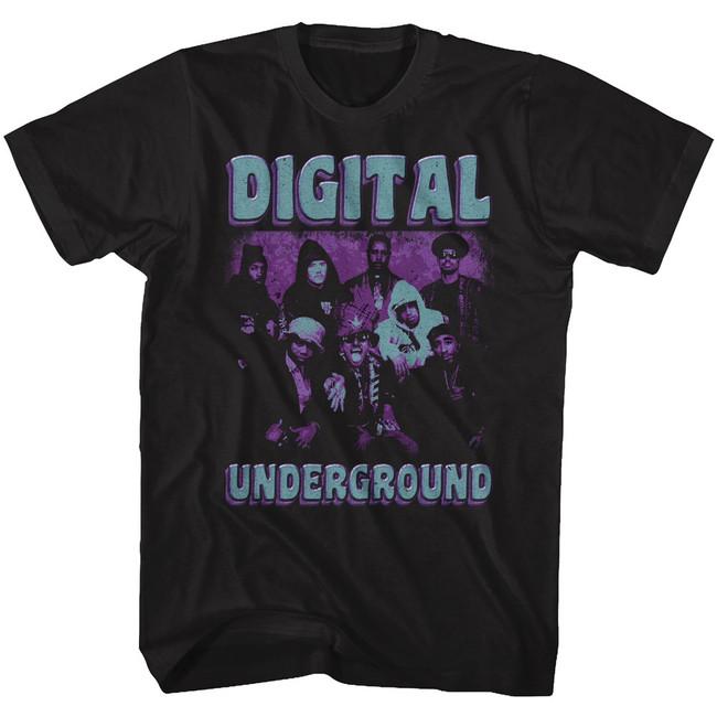 Digital Underground Funky Purp Black Adult T-Shirt