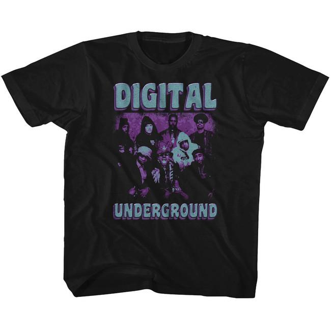 Digital Underground Funky Purp Black Youth T-Shirt