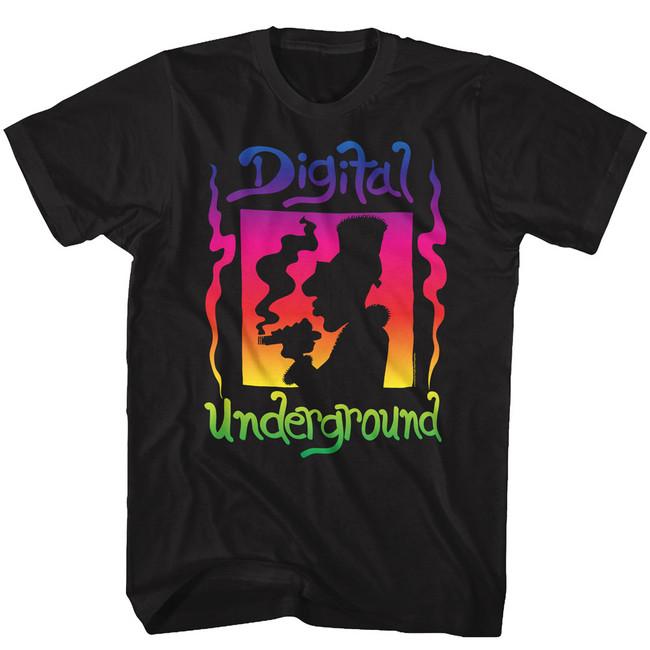 Digital Underground Gradient Black Adult T-Shirt