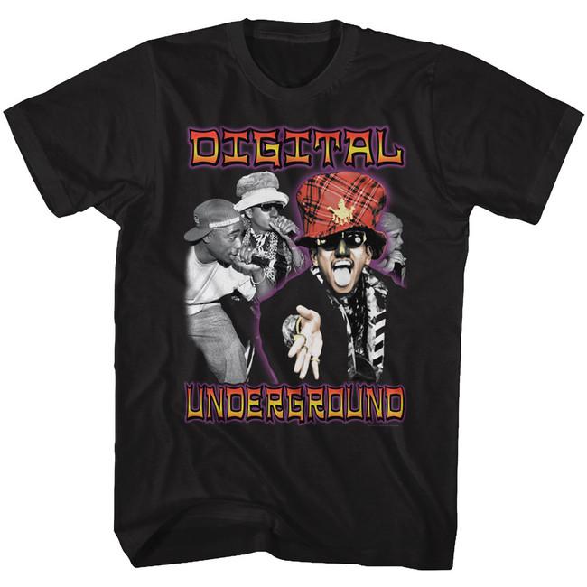 Digital Underground By Chance Black Adult T-Shirt