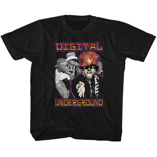 Digital Underground By Chance Black Youth T-Shirt