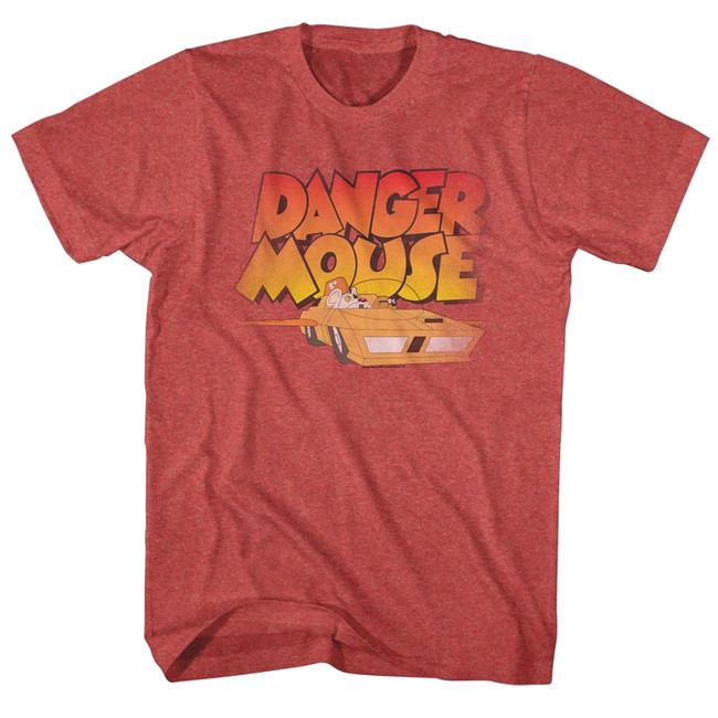 Danger Mouse Zoom Red Heather Adult T-Shirt