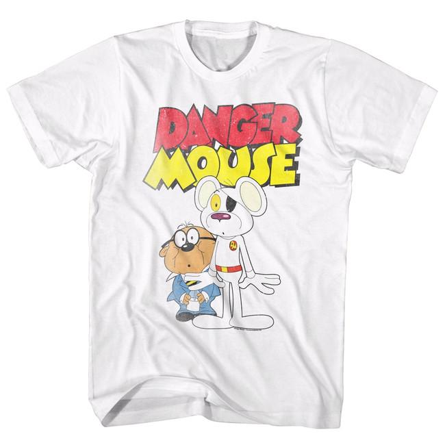 Danger Mouse White Adult T-Shirt