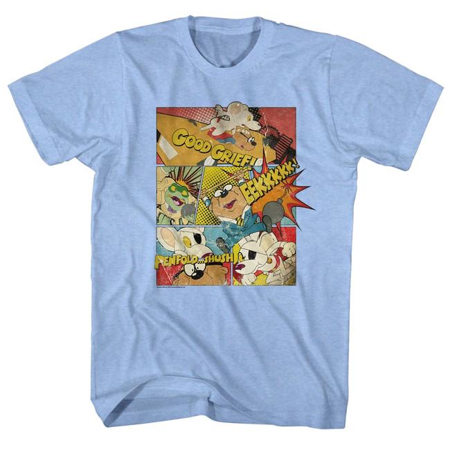 Danger Mouse Good Grief Light Blue Adult T-Shirt