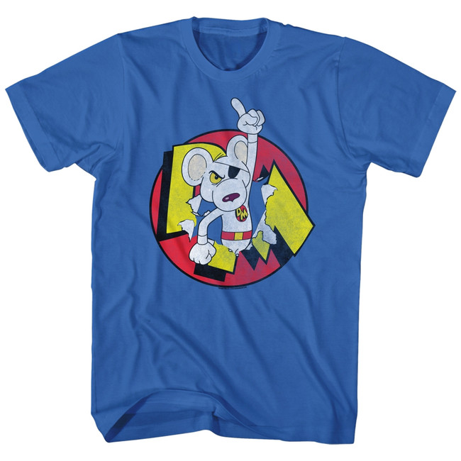 Danger Mouse Hero Royal Adult T-Shirt