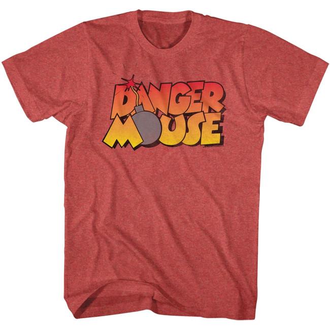 Danger Mouse Danger Bomb Red Heather Adult T-Shirt
