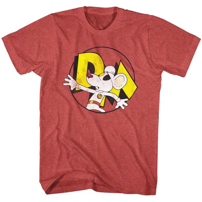 Danger Mouse Danger Hide Red Heather Adult T-Shirt