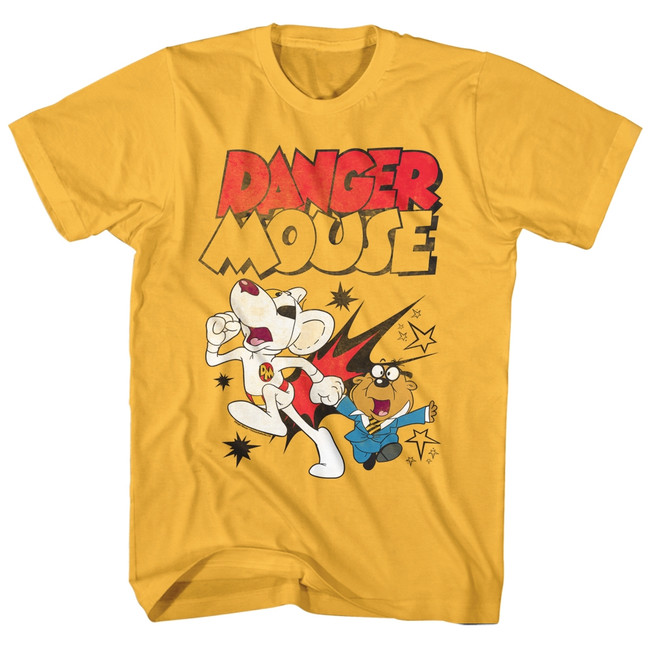 Danger Mouse Boom Ginger Adult T-Shirt