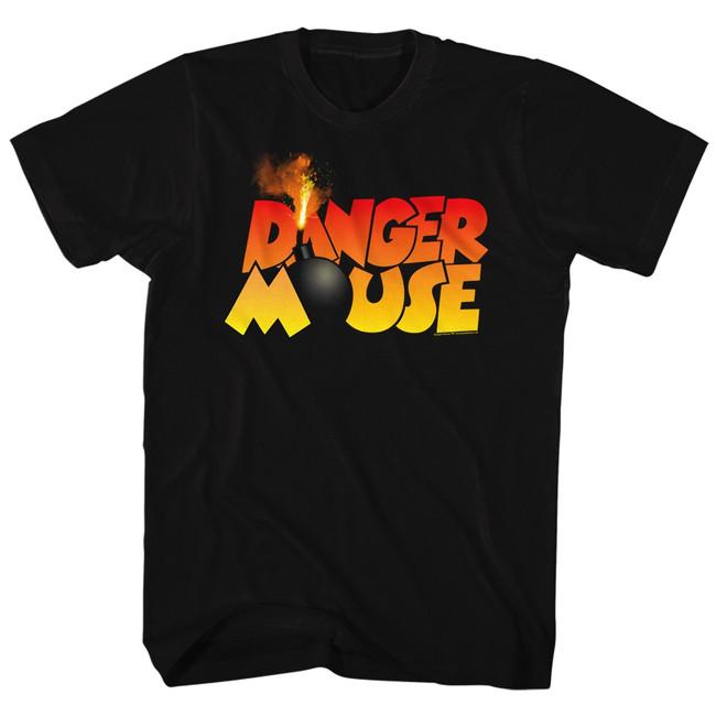 Danger Mouse Da Bomb Black Adult T-Shirt
