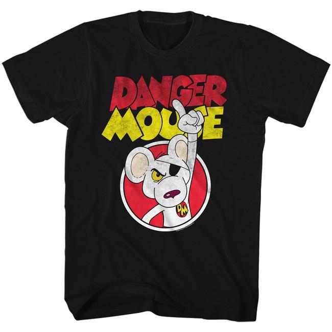 Danger Mouse Black Adult T-Shirt