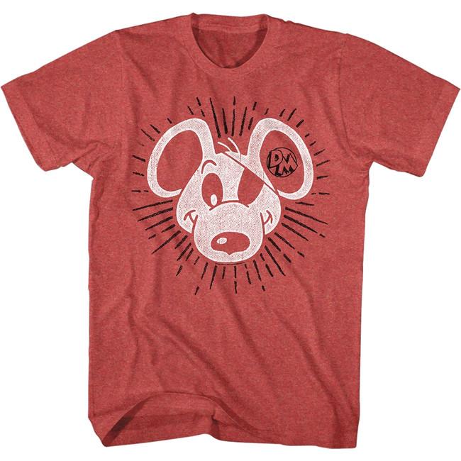 Danger Mouse Danger Sunburst Red Heather Adult T-Shirt