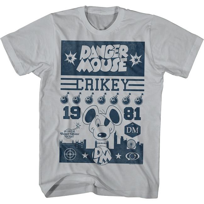 Danger Mouse Streetz Silver Adult T-Shirt