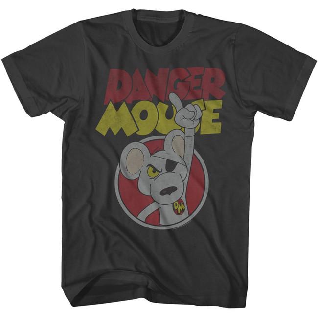 Danger Mouse Danger Smoke Adult T-Shirt
