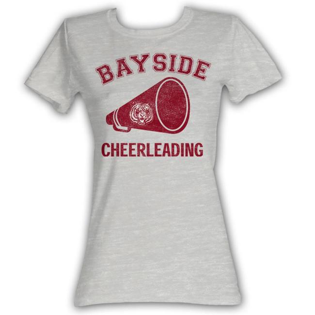 Saved by the Bell Cheerleading Gray Heather Junior Women's T-Shirt