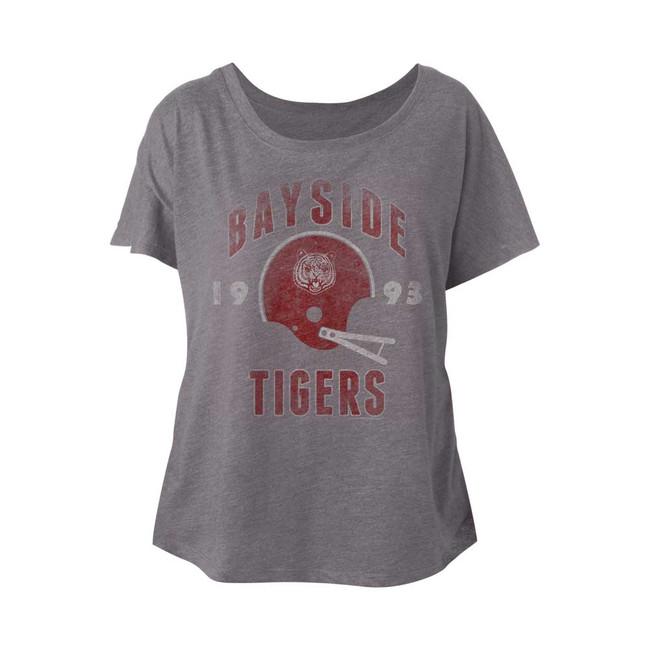 Saved by the Bell Backyard Dog Premium Heather Junior Women's Dolman T-Shirt