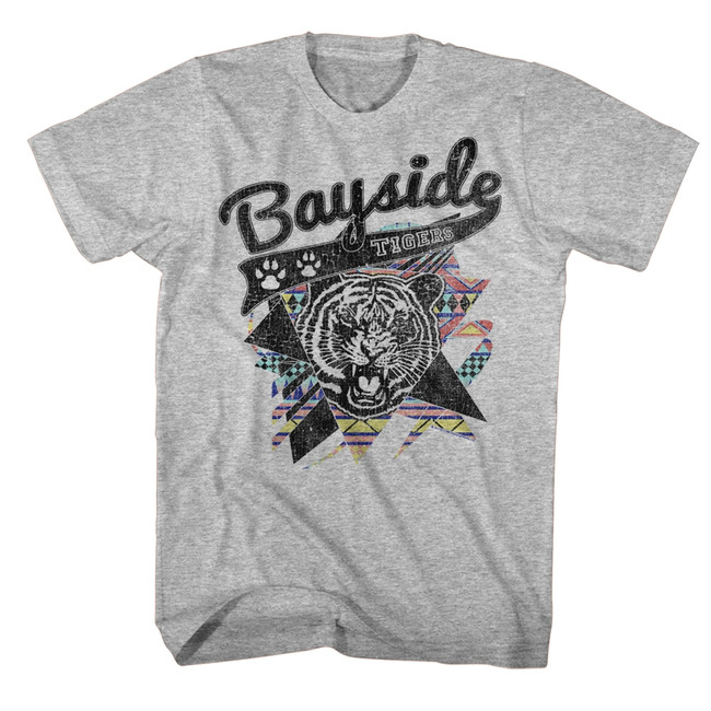 Saved by the Bell Aztec Tigers Gray Heather T-Shirt
