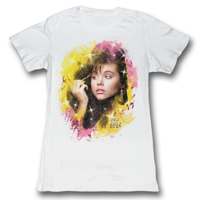 Saved by the Bell All Made Up White Junior Women's T-Shirt