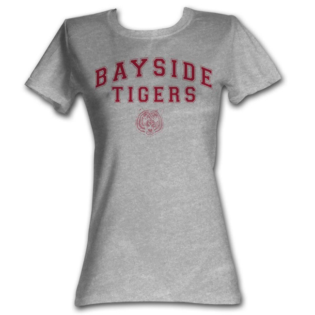 Saved by the Bell Bayside Arch Gray Heather Junior Women's T-Shirt