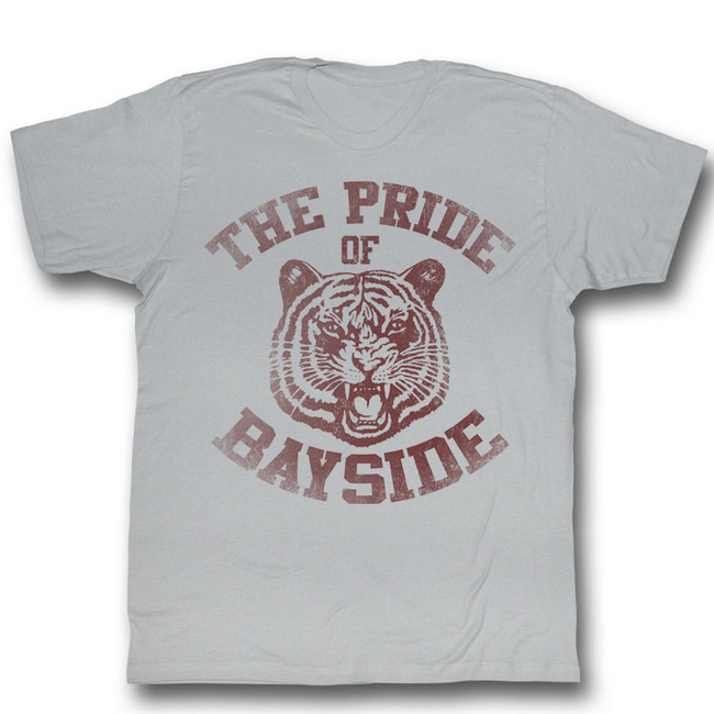 Saved by the Bell Bayside Fade Silver T-Shirt